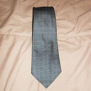 Calvin Klein Accessories - Calvin Klein Gray and White Neck Tie